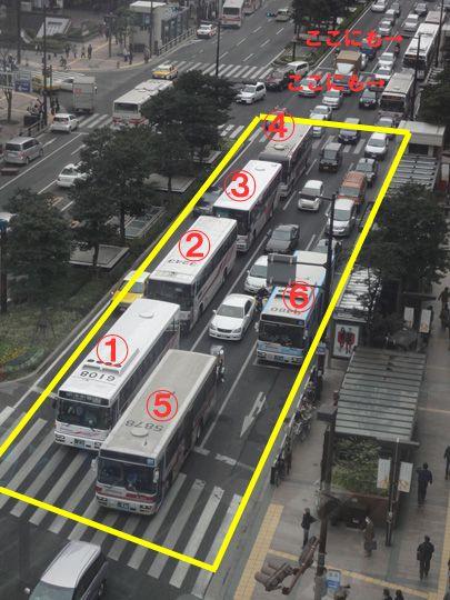 西鉄バスのせいで渋滞