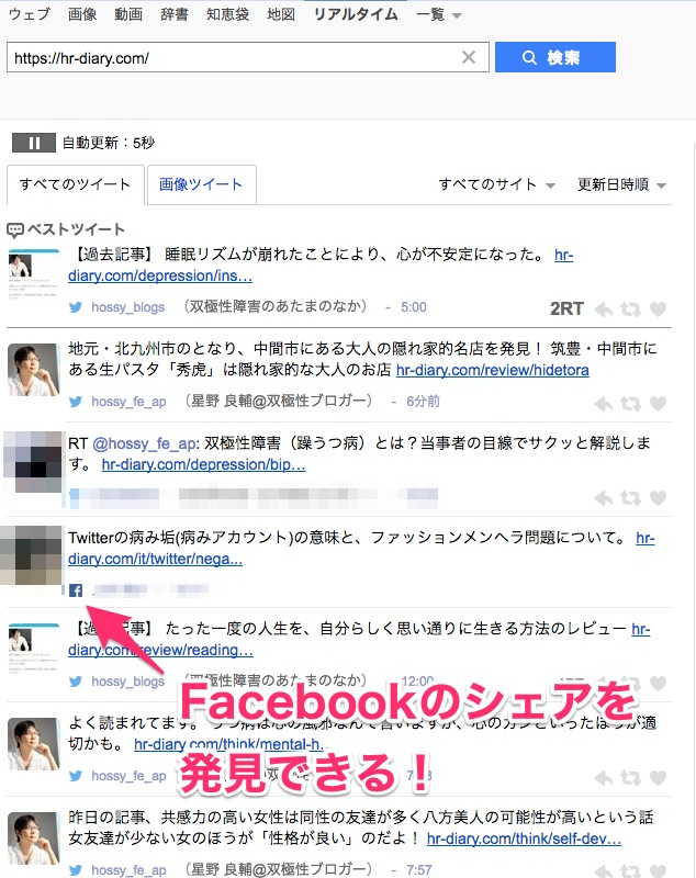 Facebookのシェア