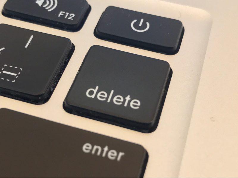 delete 消去 消す