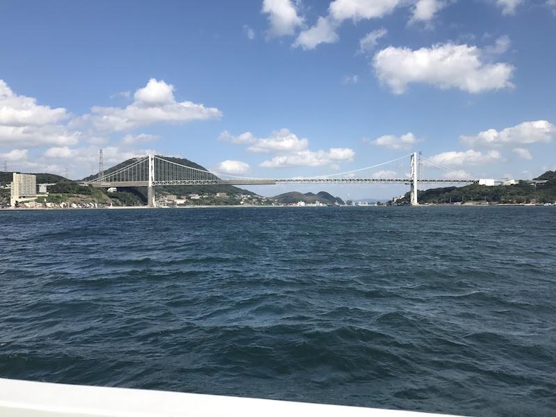 関門海峡がきれいに見えます。