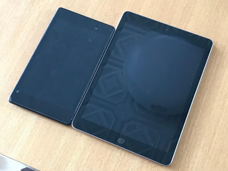iPad映り込み